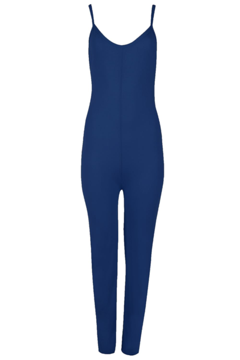 Ladies-Thin-Strap-Cami-Playsuit-Womens-Plain-Jersey-All-in-One-Jumpsuit-UK-8-14
