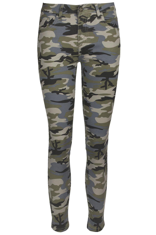 Womens-Camouflage-Army-Printed-Trouser-Ladies-Denim-Skinny-Fit-Slim-Jeans-Pants
