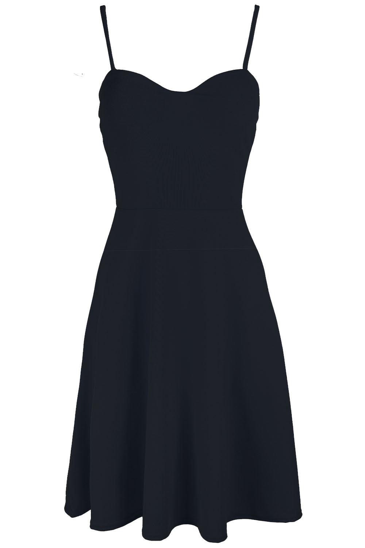 Womens-Ladies-Sleeveless-Cami-Flared-Swing-Strappy-Top-8-26-Midi-Skater-Dress