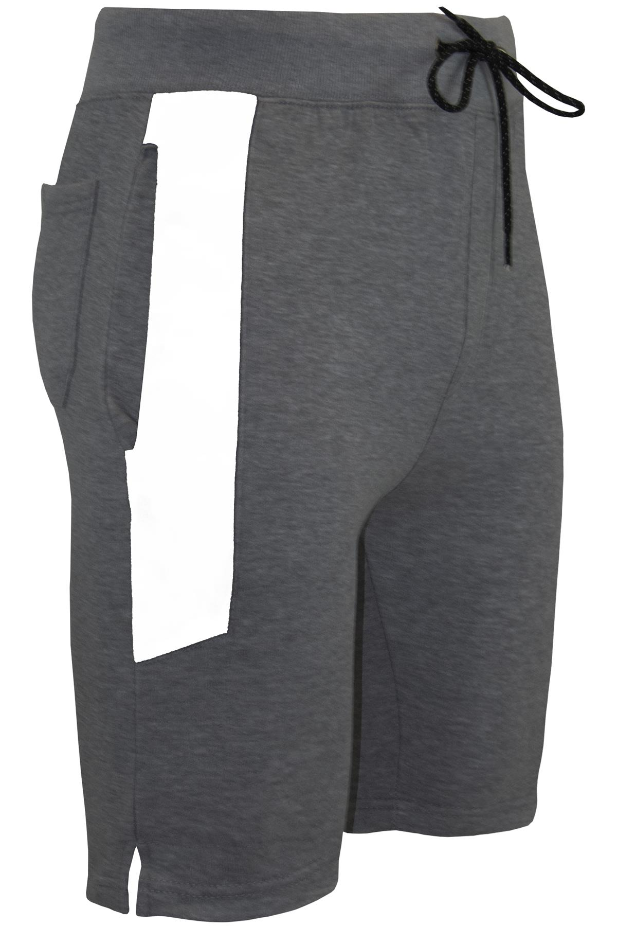 Mens-Plain-Summer-Casual-Gymming-Joggers-Baggy-Jersey-Running-Gym-Jogging-Shorts thumbnail 36