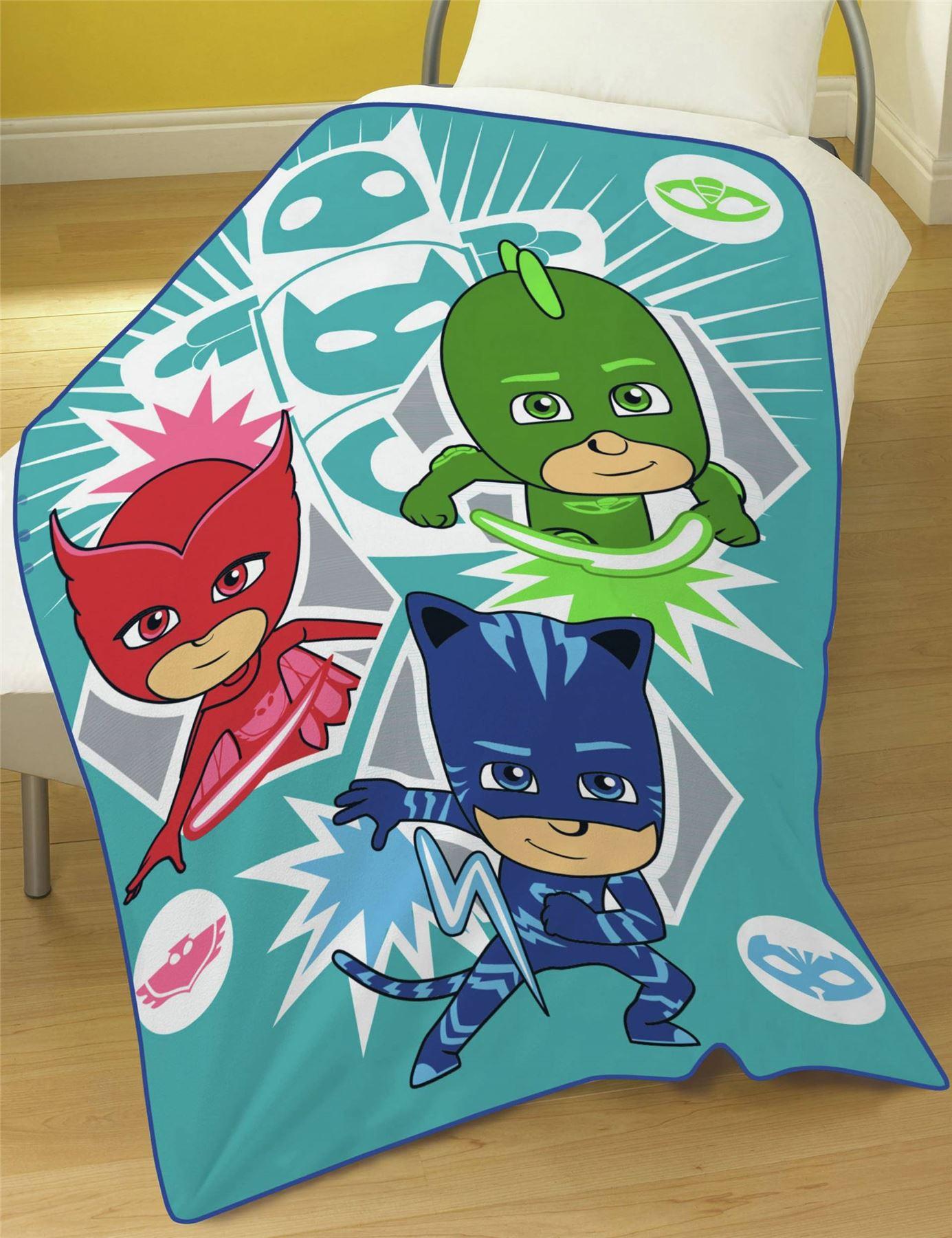 Kids-Boys-Girls-Character-Print-Brushed-Fleece-Blanket-Movie-Cartoon-Cosy-Warm thumbnail 20