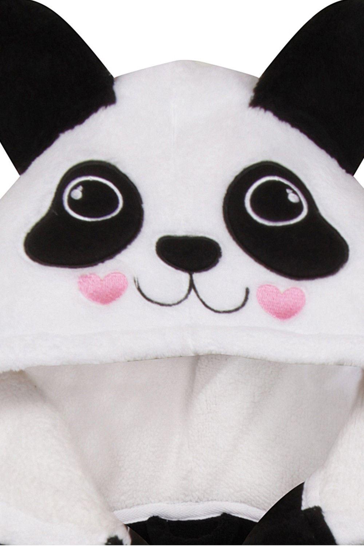Girls Panda Animal Novelty Dressing Gown Soft Fleece Character ...