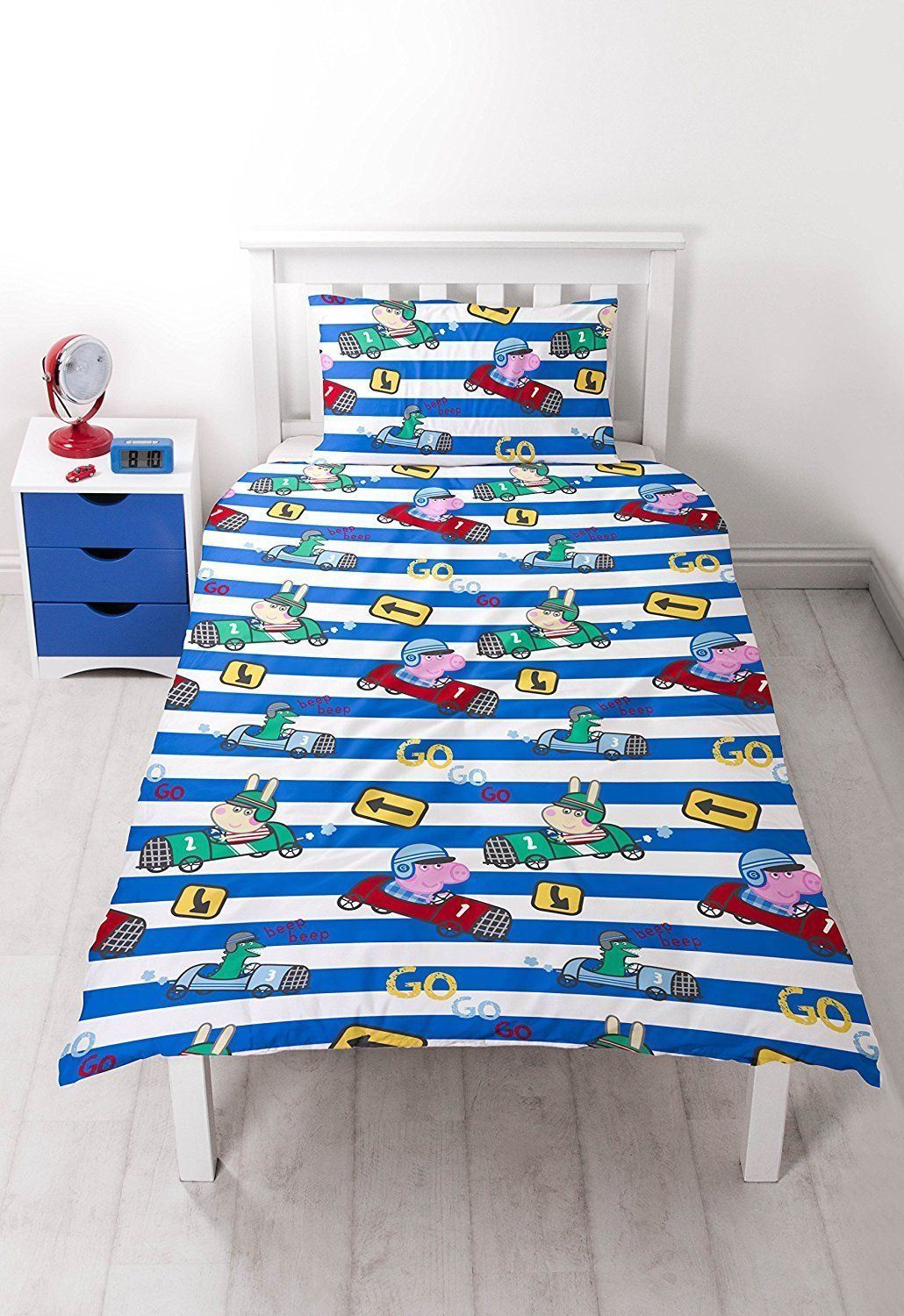 NEW-PEPPA-PIG-GEORGE-Bedding-Duvet-Quilt-Cover-Bed-Set-PIRATES-DINOSAUR-TRAIN-UK thumbnail 7