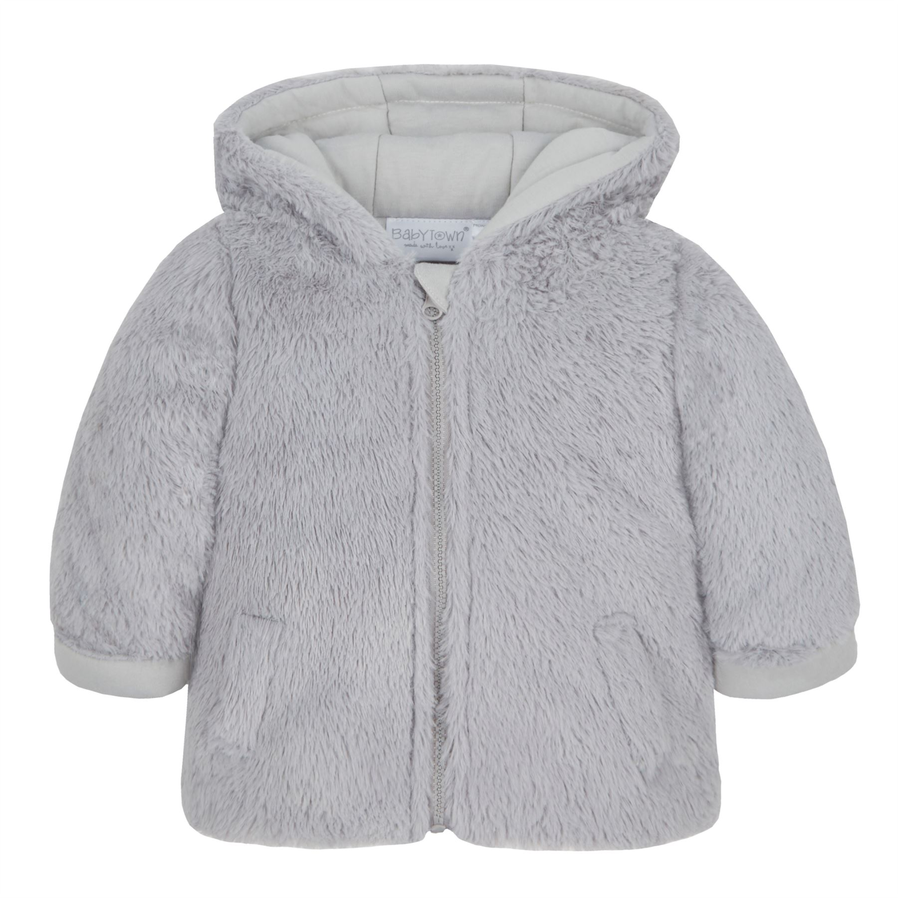 1e12d67ef Baby Girls Boys Faux Fur Coat Plush Fleece Jacket Winter Pramsuit ...