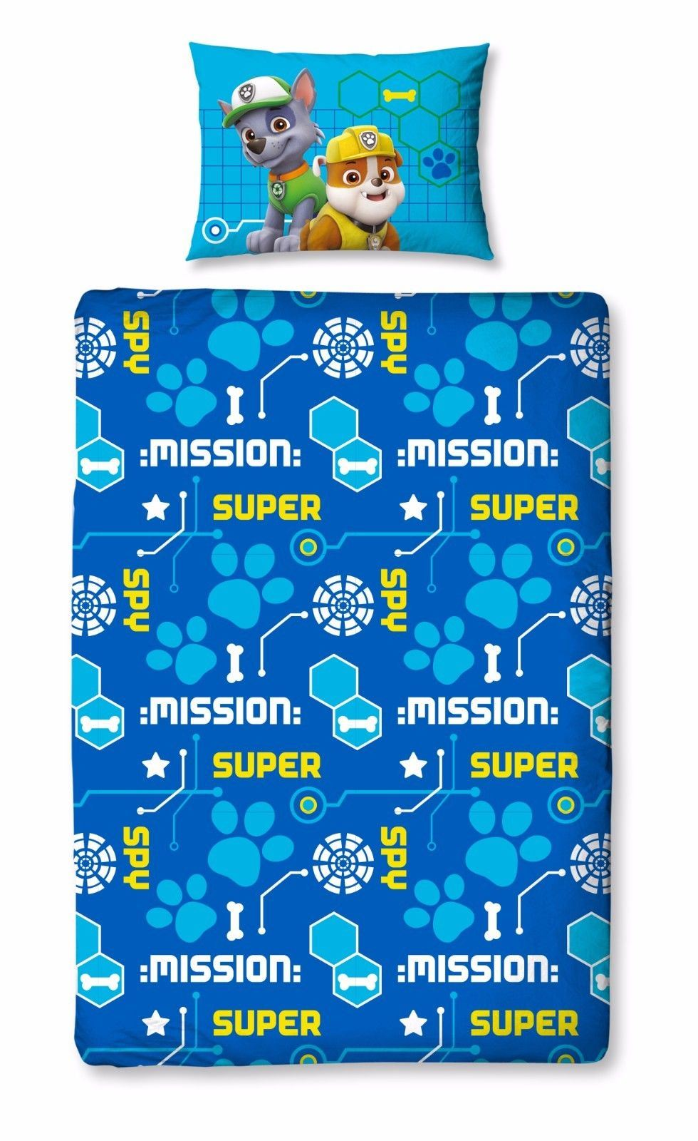 New Paw Patrol Duvet Quilt Cover Bed Set Spy Chase ...