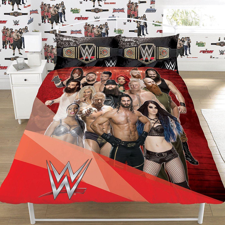 OFFICIAL REVERSIBLE WWE SINGLE DUVET/QUILT COVER BED SET WRESTLING