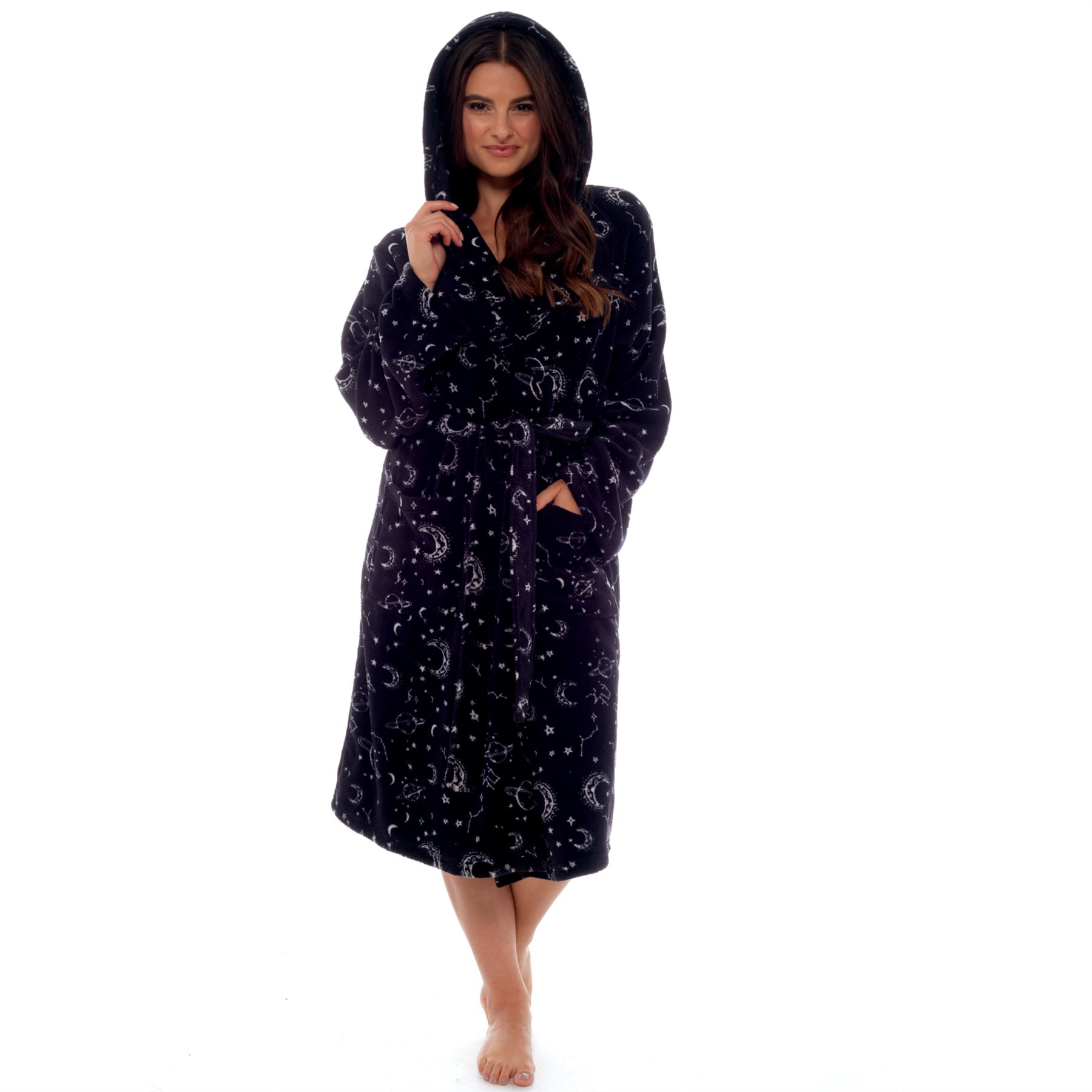 Womens Ladies Dressing Gown Super Soft Coral Fleece Robe Wrap ... a88d4b512