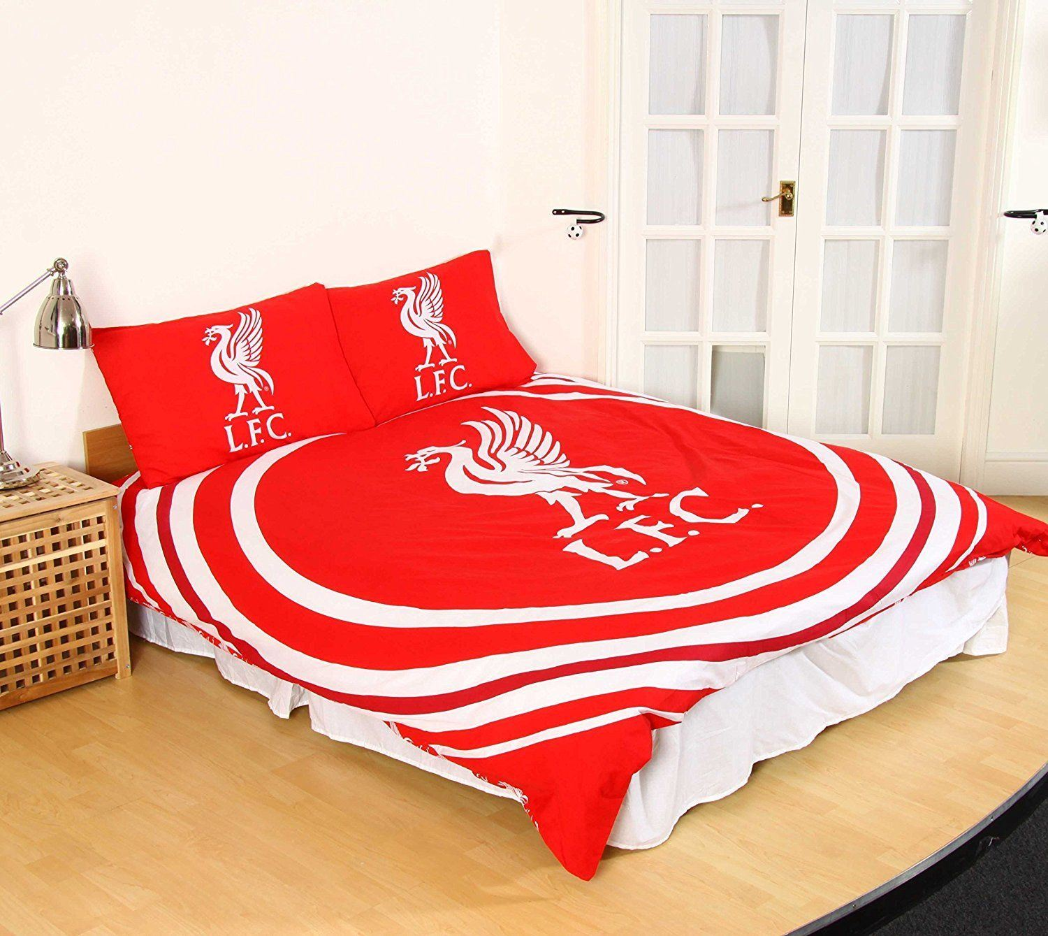 official liverpool fc football duvet bedding quilt kop bed set single reversible ebay. Black Bedroom Furniture Sets. Home Design Ideas