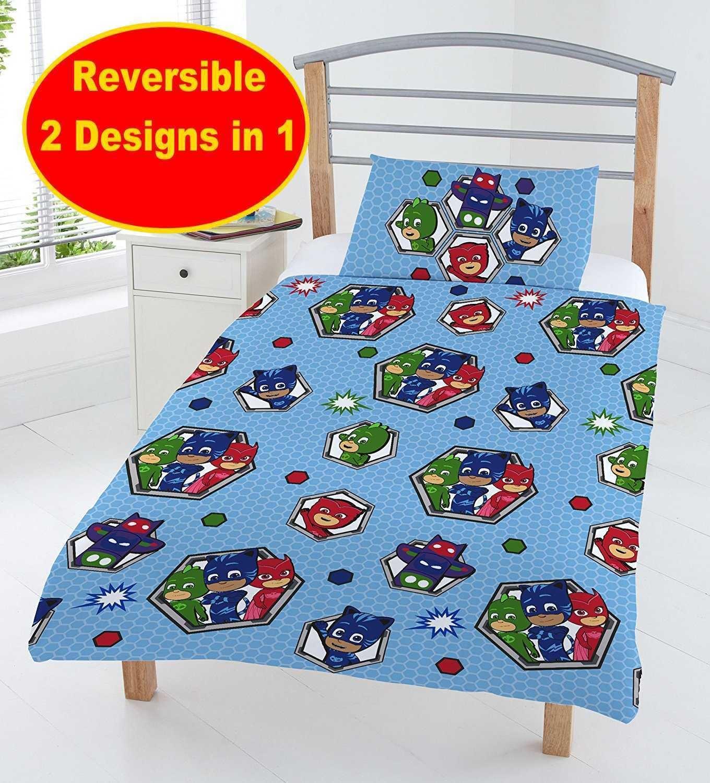 Reversible PJ Masks Superhero Kids Children Bedding Set