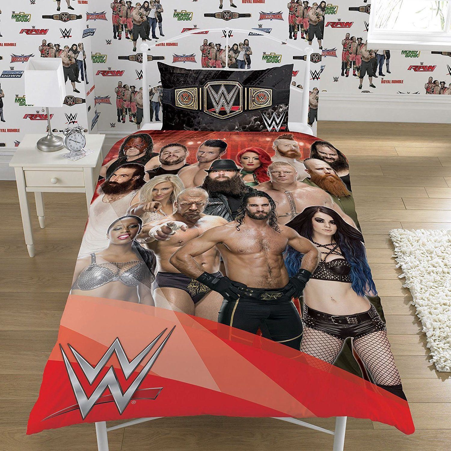 OFFICIAL REVERSIBLE WWE SINGLE DUVET/QUILT COVER BED SET