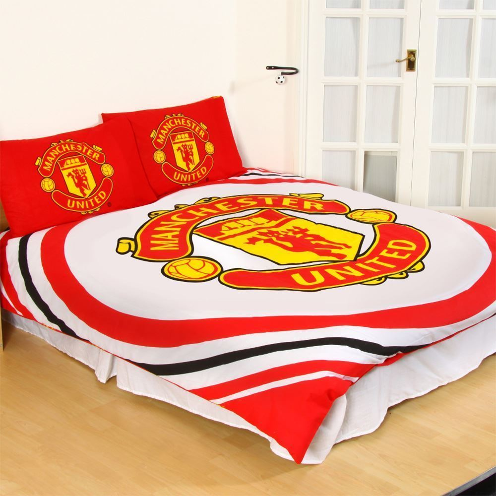 Official Manchester United Football Duvet Quilt Man Utd Bed Set Single Double Mu Ebay
