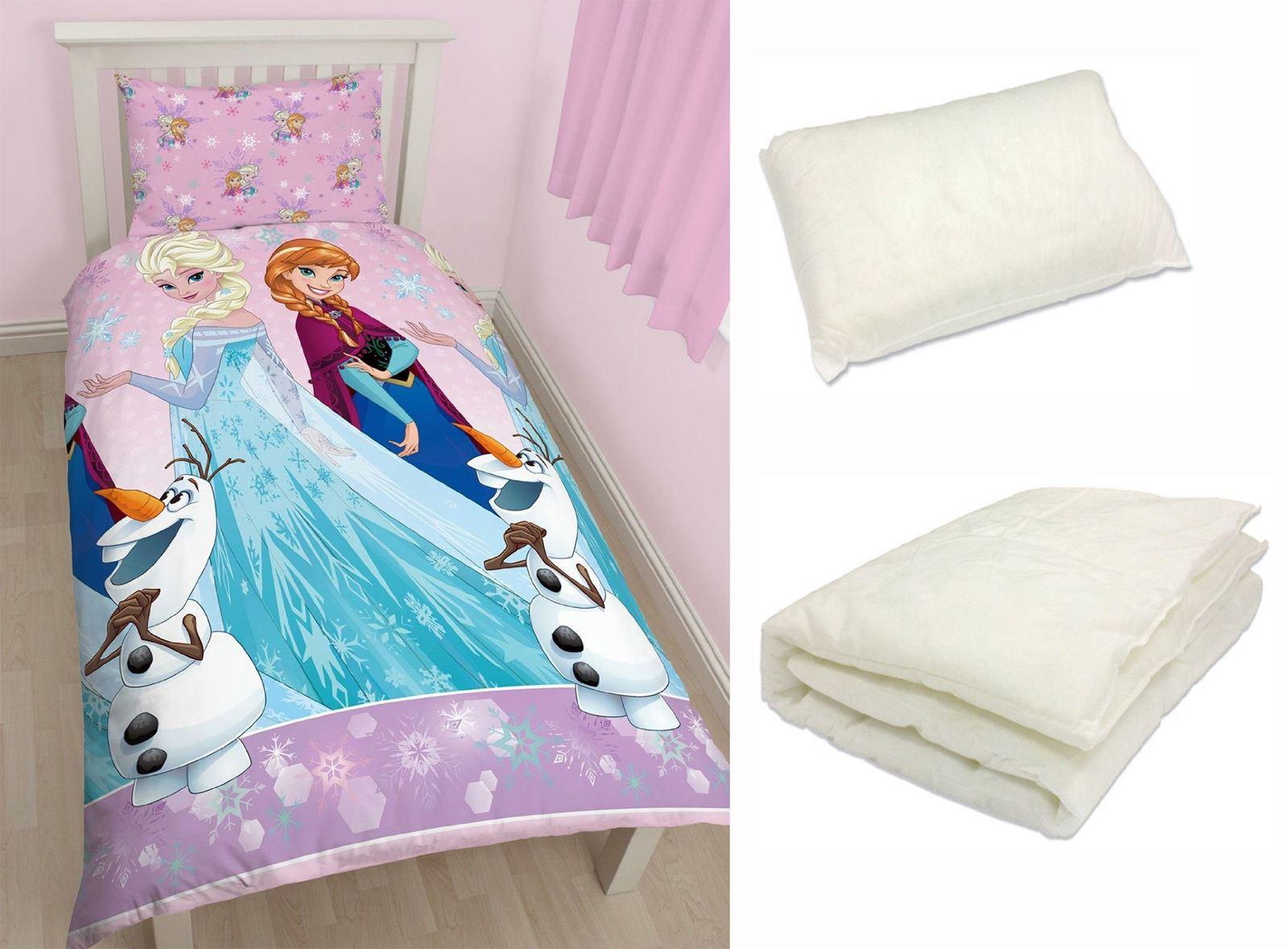 literie couette oreiller Disney Frozen Transparent Junior Bébé Lit bébé Bundle