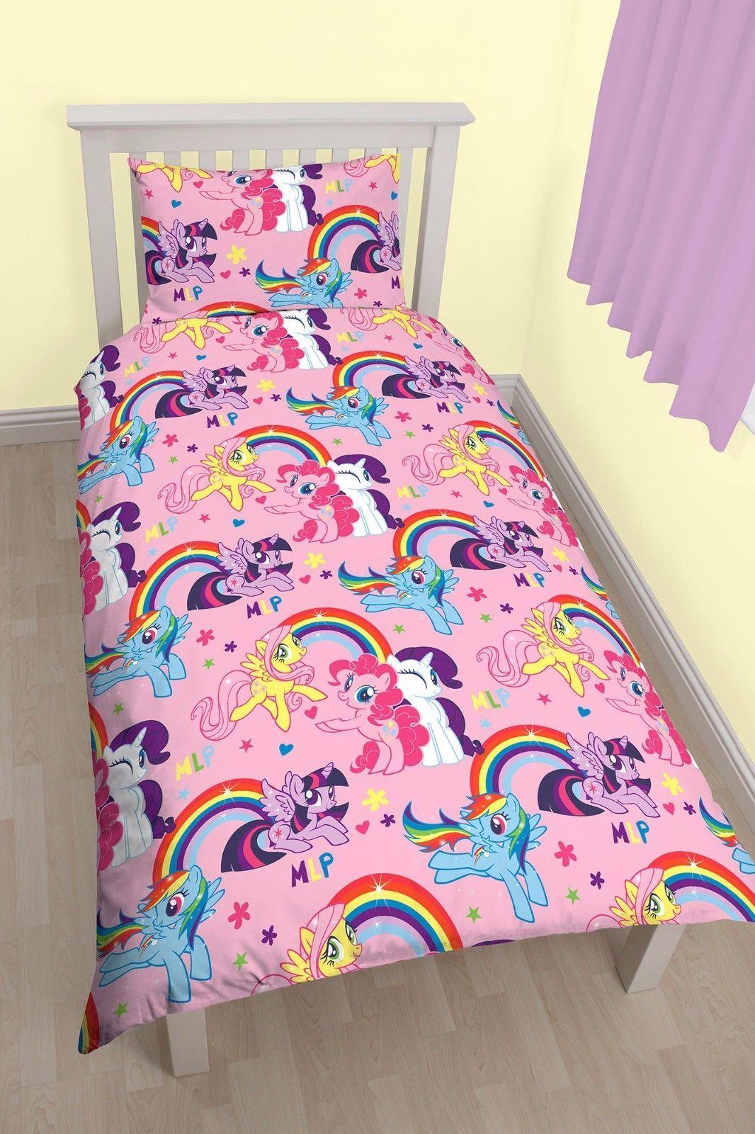 reversible my little pony equestria single duvet cover bed. Black Bedroom Furniture Sets. Home Design Ideas