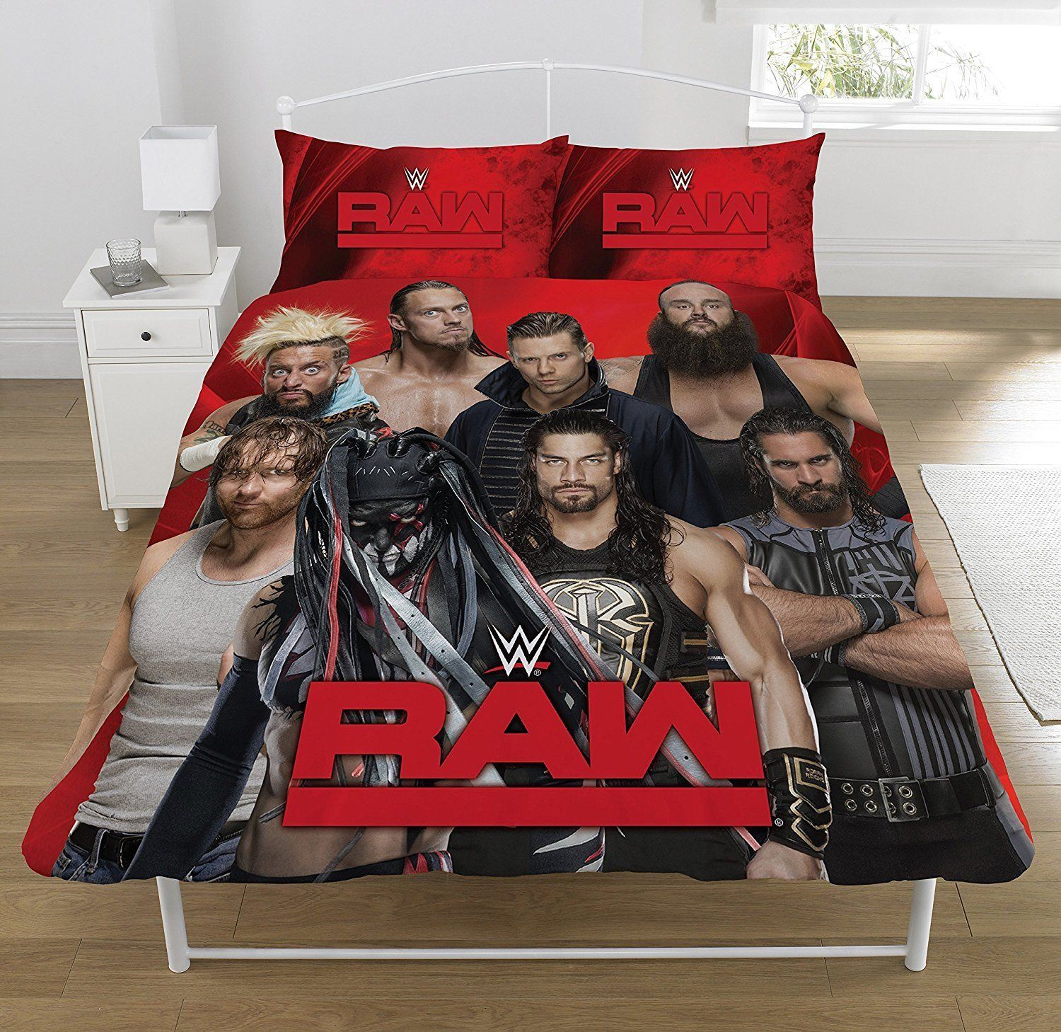 official reversible wwe single duvetquilt cover bed set