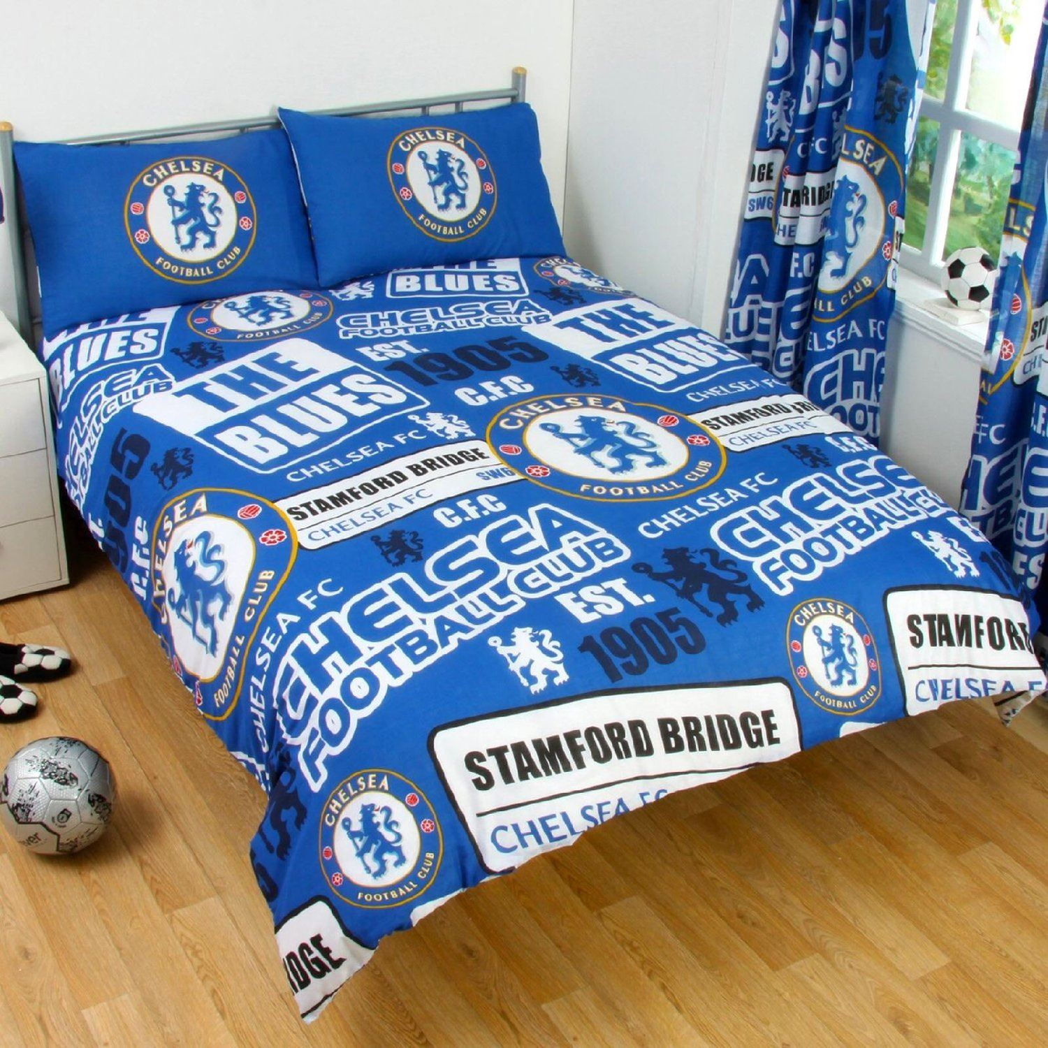 Chelsea Bedroom Chelsea Bedroom Bedside Extension For Bed: OFFICIAL CHELSEA Football Club Duvet Quilt Cover Bed Set
