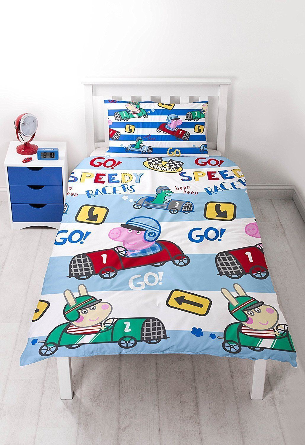 NEW-PEPPA-PIG-GEORGE-Bedding-Duvet-Quilt-Cover-Bed-Set-PIRATES-DINOSAUR-TRAIN-UK thumbnail 6