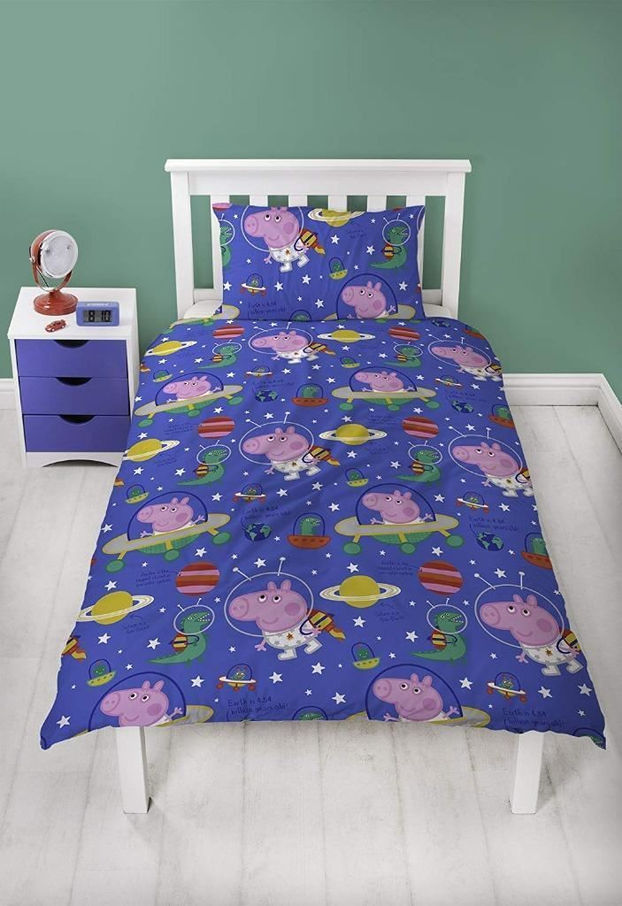 NEW-PEPPA-PIG-GEORGE-Bedding-Duvet-Quilt-Cover-Bed-Set-PIRATES-DINOSAUR-TRAIN-UK thumbnail 3