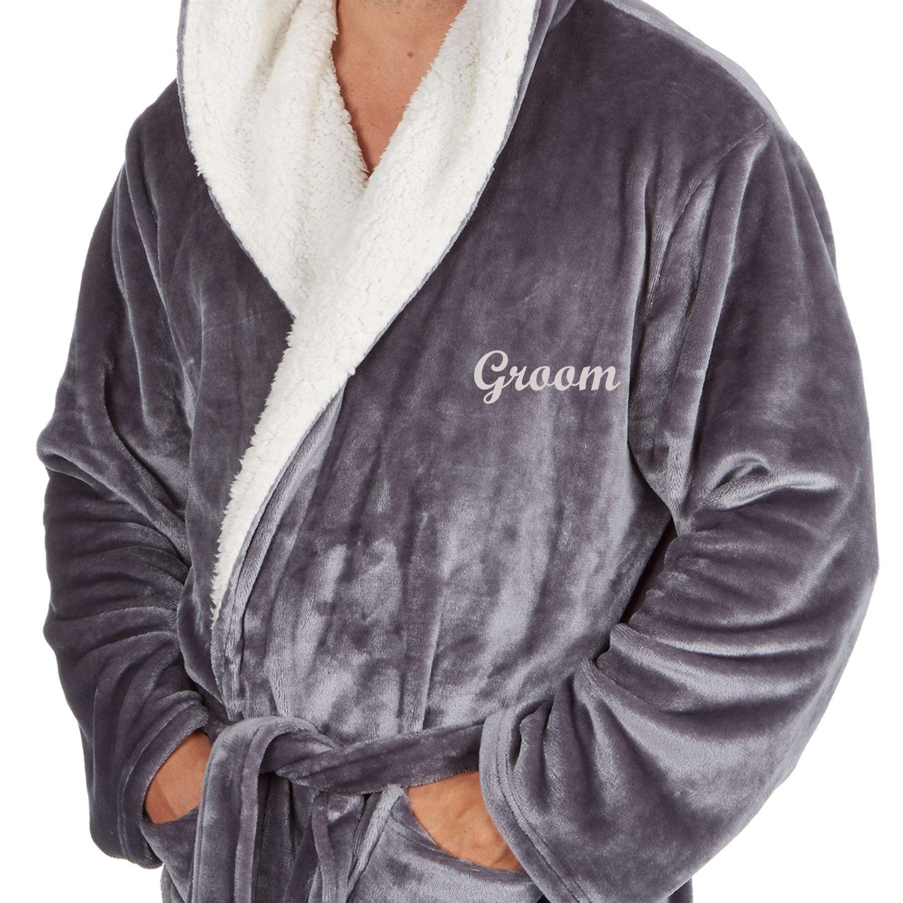 Personalised His Hers Mr Mrs Bride Groom Dressing Gown Robe Matching Couples Ebay