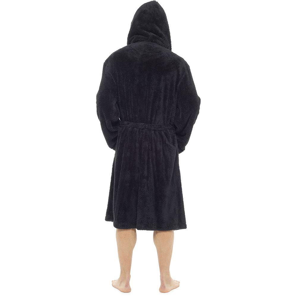 Mens Luxury Super Soft Fleece Dressing Gown Bath Robe Plush Thick ... 6b4532541