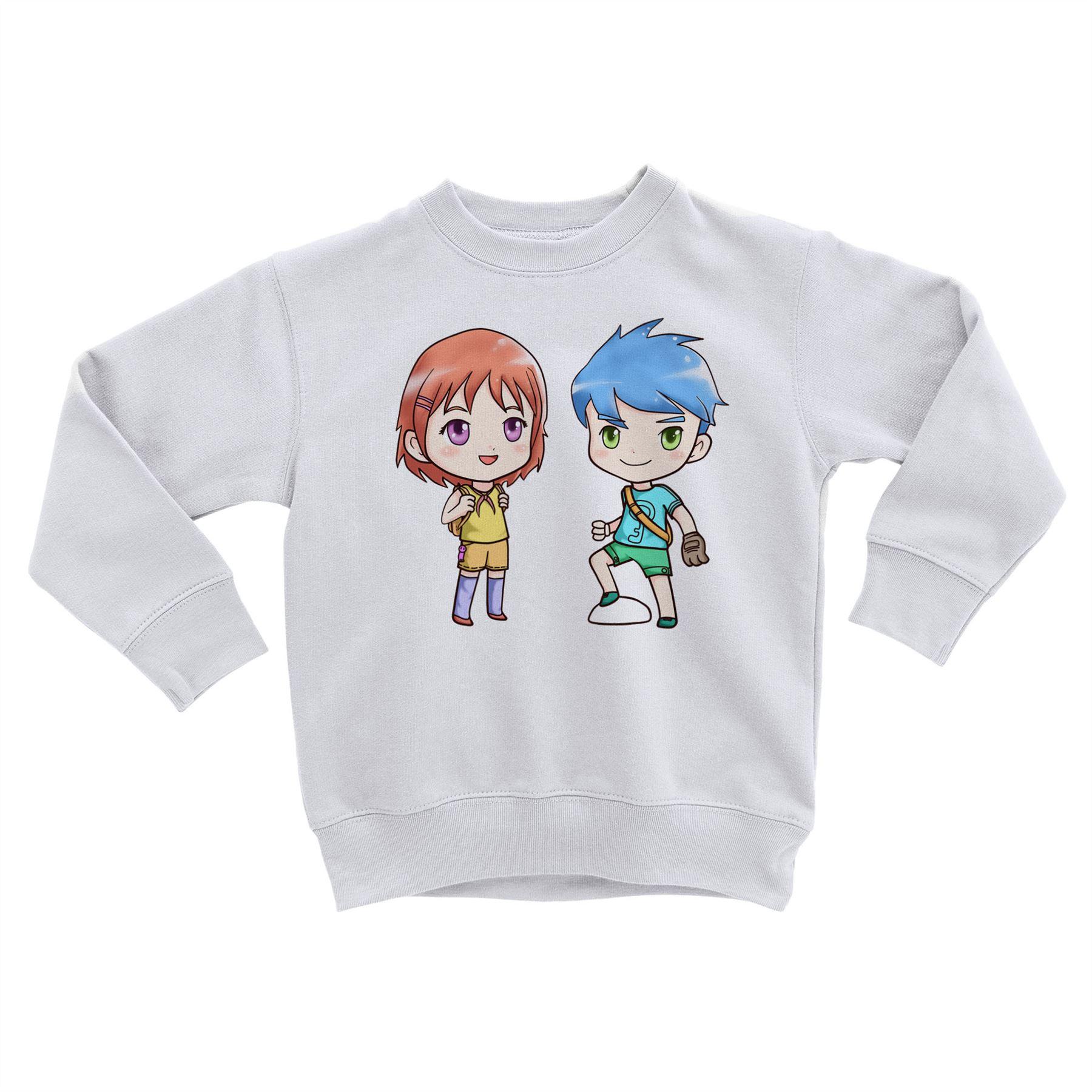 Sweatshirt Enfant Aquarelle Personnage Manga Enfant Mignon Dessin