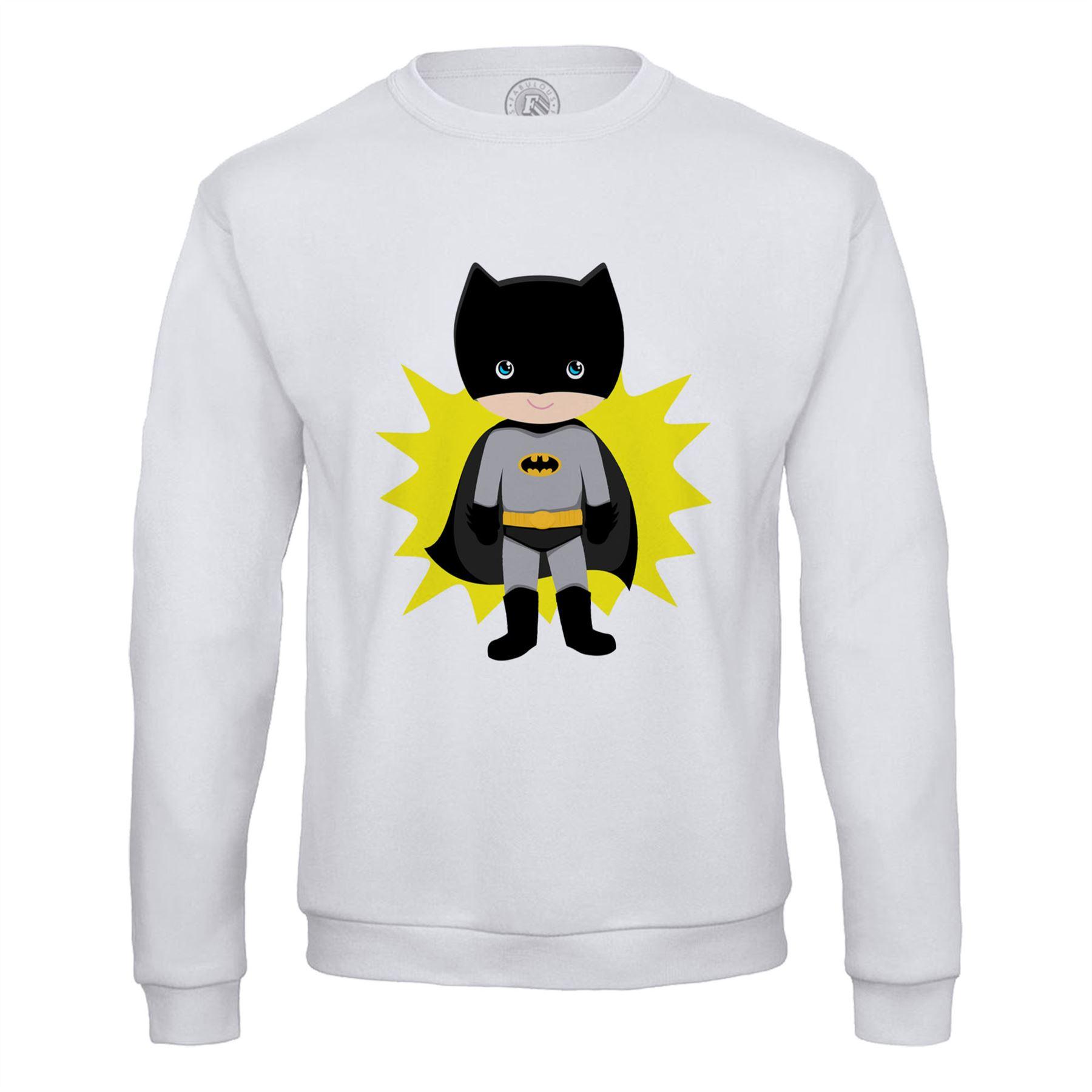 Sweat Shirt Homme Batboy Batman Garcon Enfant Dessin Mignon Super Hero Ebay