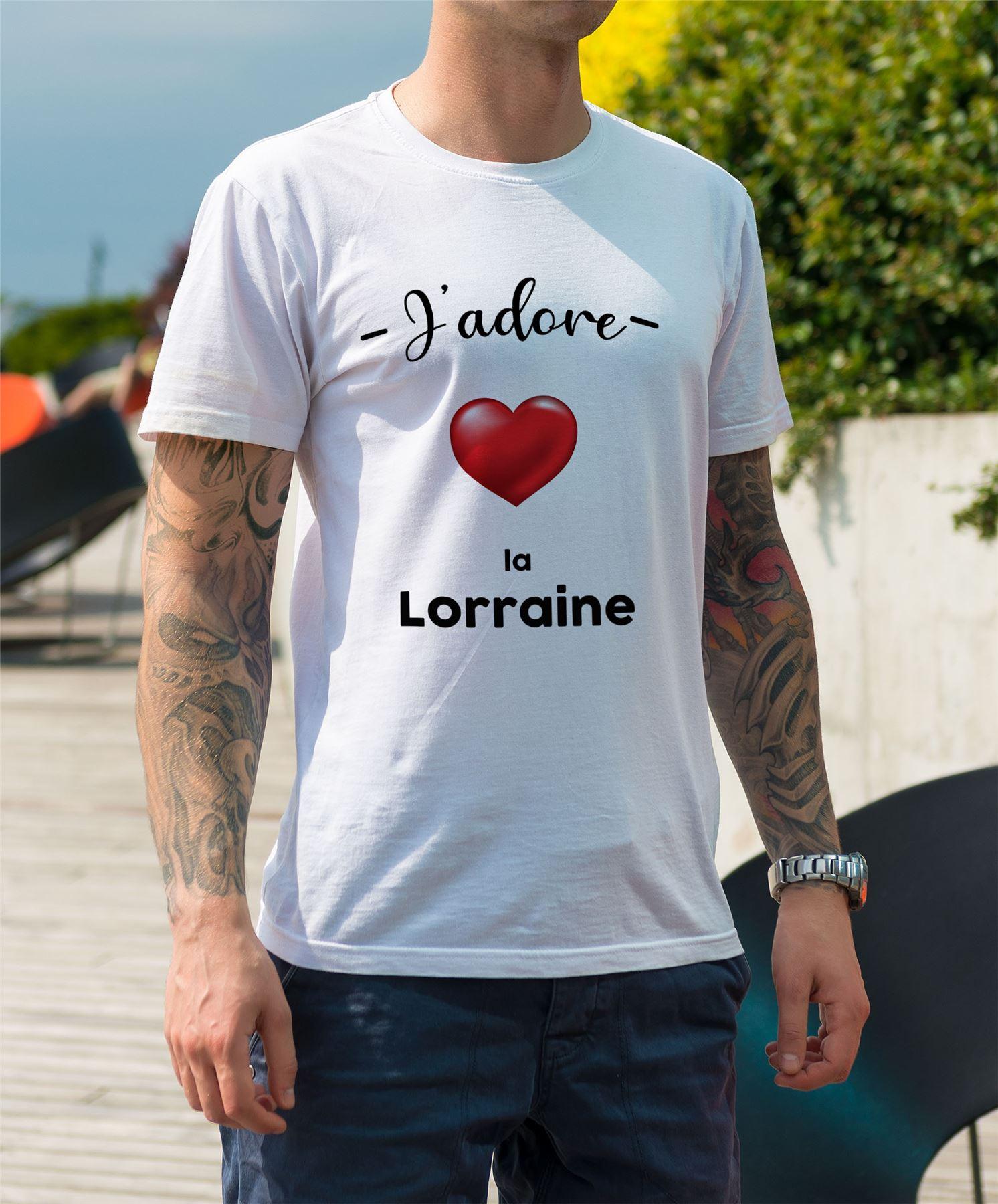 T-shirt Homme Col Rond J/'adore La Bretagne Region de France Rennes