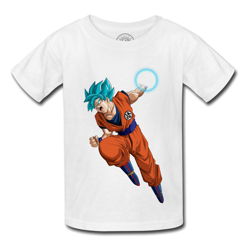 T-shirt enfant Dragon ball Z sangohan gotenks c18 cyborg kameha