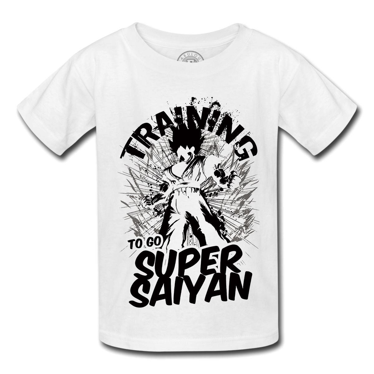 T-shirt-enfant-training-super-sayan-dragon-ball-z-dbz-manga-entrainement