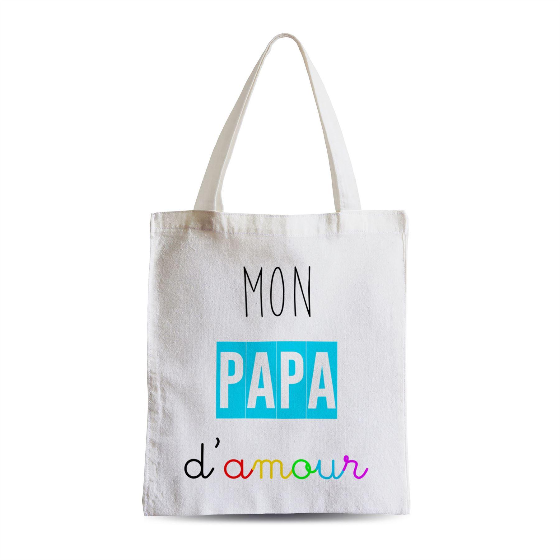 Détails Sur Grand Sac Shopping Plage Etudiant Mon Papa Damour Pere Love Tendresse