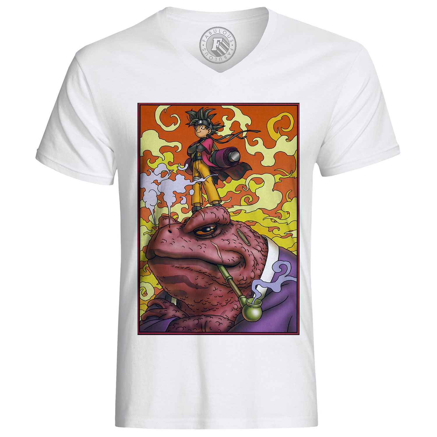 T-shirt-naruto-sangoku-crossover-dragon-ball-gamabunta