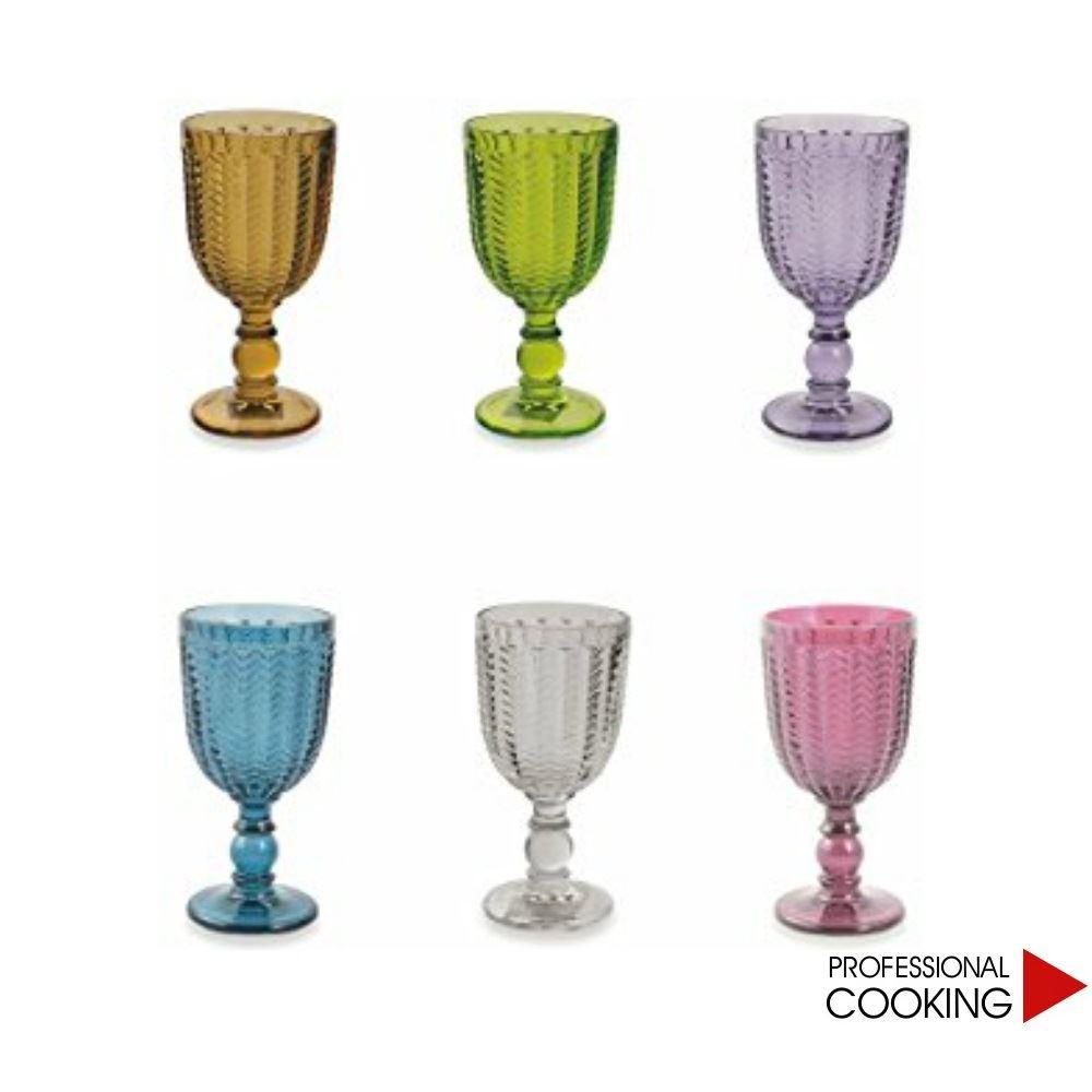 Calici Vino E Acqua dettagli su villa d' este set 6 bicchieri calici vino spumante vetro  colorato mod. diamond