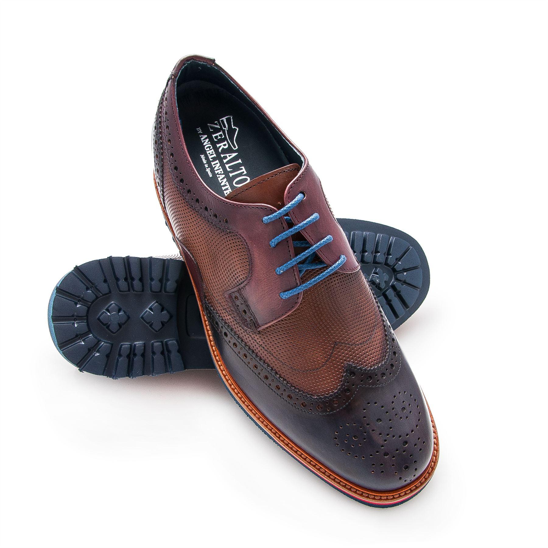 d8724de6 La imagen se está cargando Zerimar-Zapatos-de-hombre -con-alzas-interiores-en-