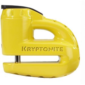 Kryptonite Keeper 5-S disc lock - with reminder cable - yellow yellow