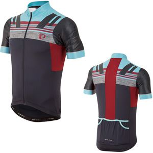 Pearl Izumi Men's, Pro Escape Jersey, Eclipse bluee   Tibetan Red, Size L