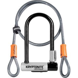Kryptonite KryptoLok Mini U-lock with FlexFrame bracket blk/silver