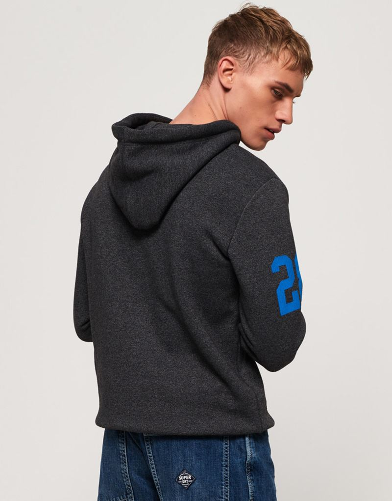 4680b0f0d0e Superdry Sweat Shirt Store Hoodie in Charcoal Heather Grit