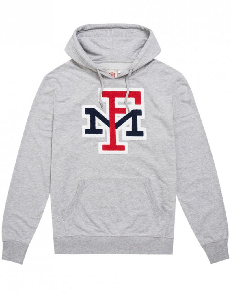 6319d48b64c4f0 Franklin and Marshall Logo Hoodie in Light Grey Melange