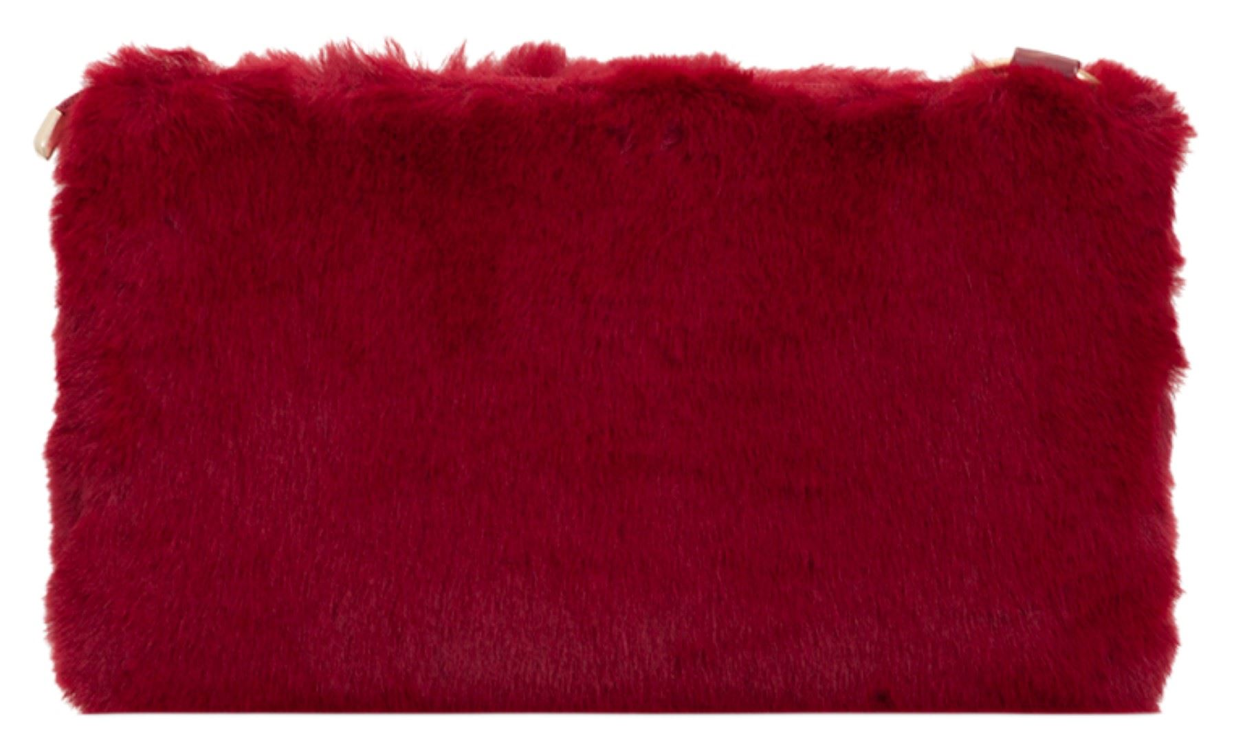 37ced5f63d Winter Ladies Faux Fur Clutch Bag Plain Handbag Top Zipped Stylish ...