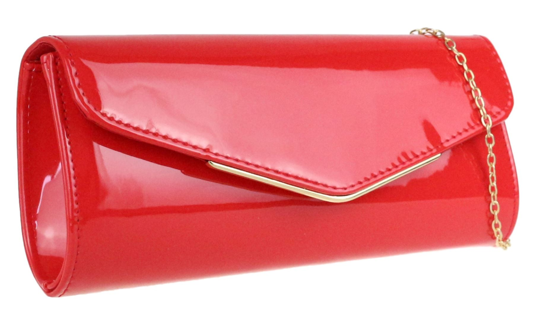 14c434b625d Plain Glossy Clutch Bag Oversized Patent Faux Leather Handbag ...