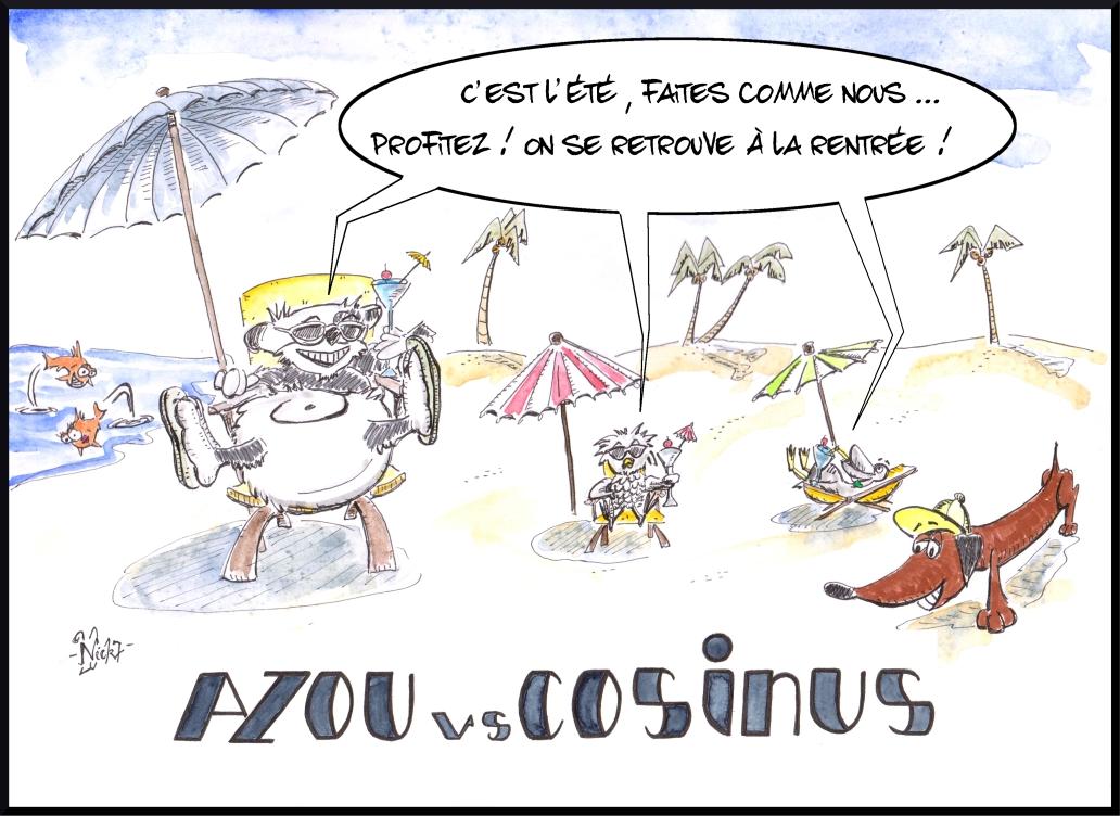 Azou vs Cosinus vous souhaite de bonnes vacances !
