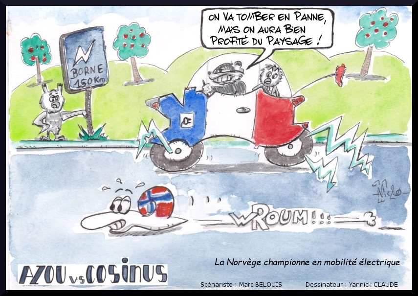Azou vs Cosinus (40) : La Norvège championne en mobilité électrique