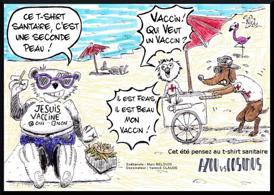 Azou vs Cosinus (06-2021) - Cet été pensez au t-shirt sanitaire ! - © Marc Bélouis & Yannick Claude
