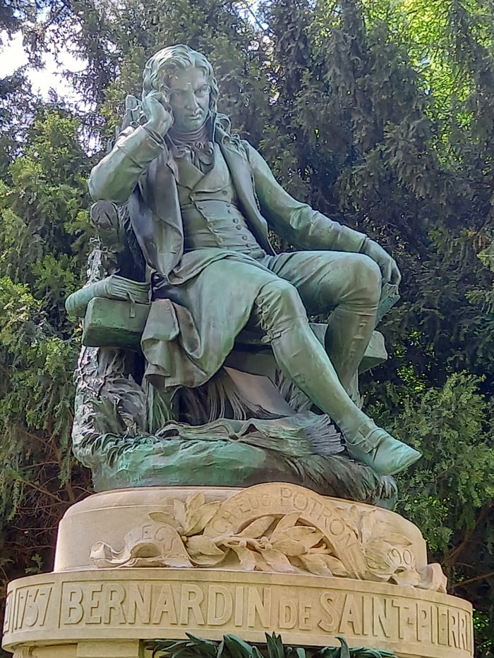 Bernardin de Saint-Pierre, statue de Louis Holweck (1907) © Marie Lelong