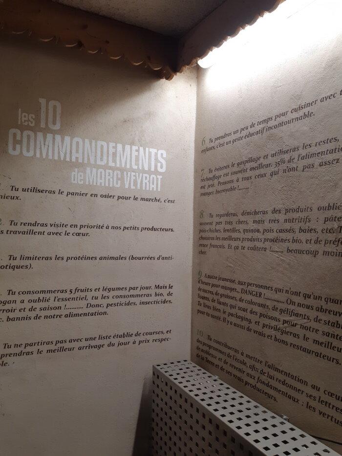 Les 10 commandements de Marc Veyrat au sous-sol de La Maison des Bois