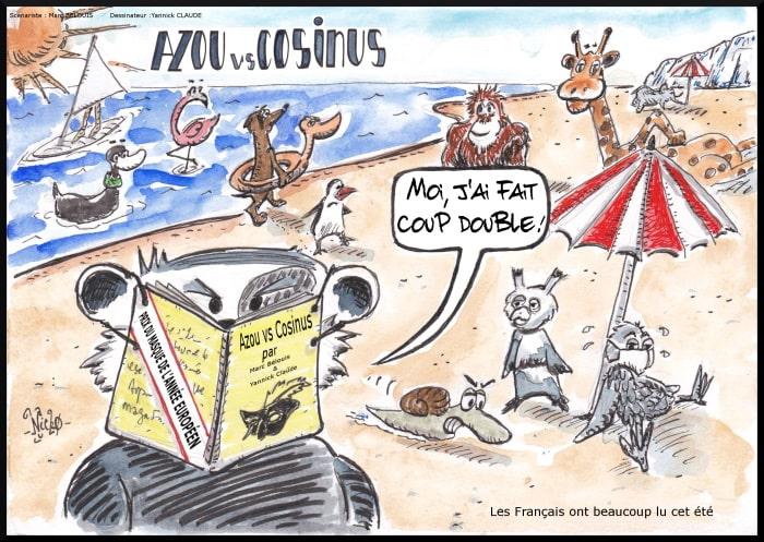Azou vs Cosinus 39 : Les Français ont beaucoup lu cet été