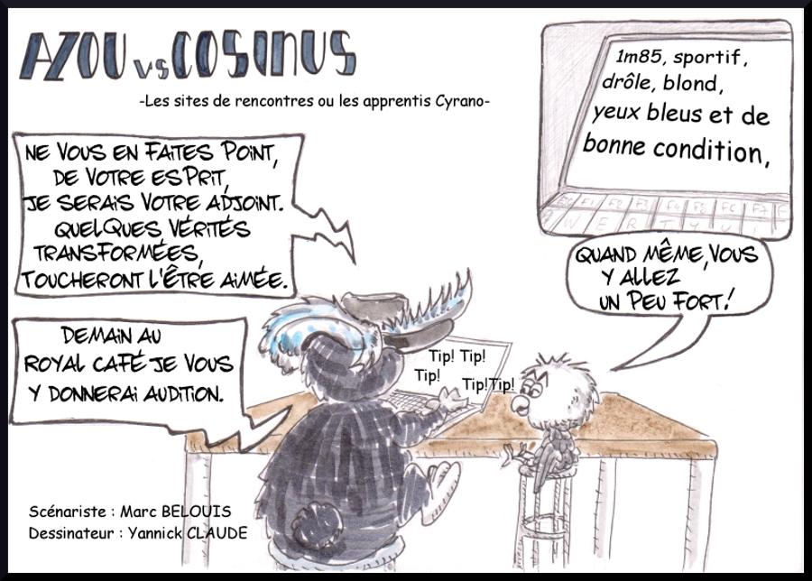 Azou vs Cosinus (25) : Les sites de rencontres ou les apprentis Cyrano
