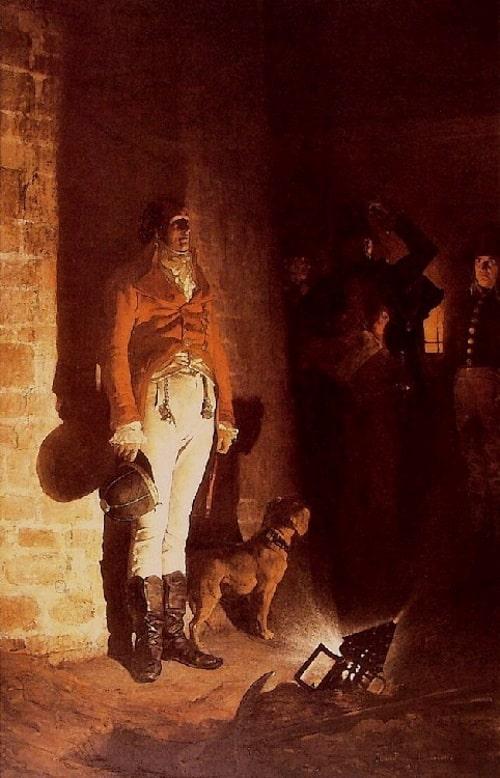 La mort du duc d'Enghien par Jean-Paul Laurens (1873)