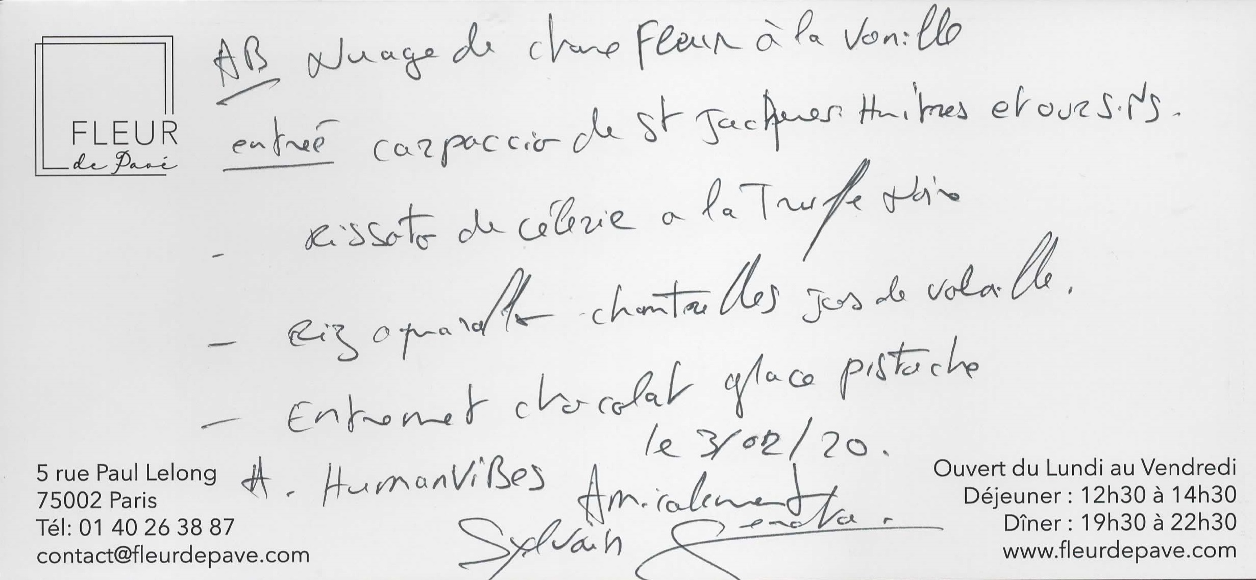 Dédicace de Sylvain Sendra pour Humanvibes