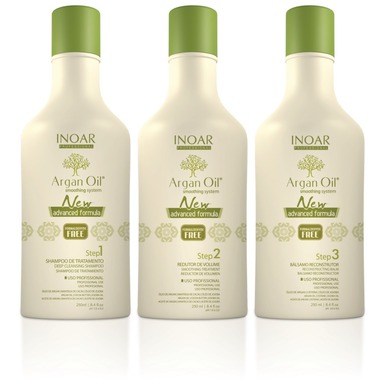 ARGAN OIL SMOOTHING SYSTEM INOAR PROFESSIONAL MINI KIT 3 x 250 ml
