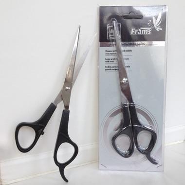 Ciseaux coiffeur grand modèle avec repose-doigt marque FRAMS